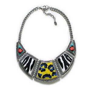 Zara Statement Animal Print Tribal Necklace